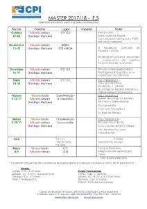 Calendario Master 2017-18