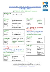 Calendario PNL PAMPLONA 2018-19