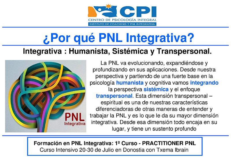 ¿Por qué PNL Integrativa?